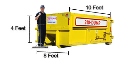 10 Yard Roll-Off Dumpster Bin